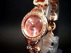 上品ピンクゴールド♪大人可愛いブレス腕時計レディースNoel Loid