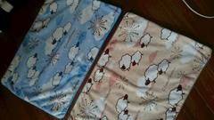 34×49�pフリース枕カバー 2枚組 ブルーベージュ
