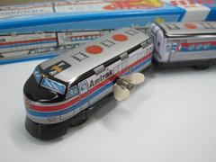 ☆ブリキ屋 ゼンマイ3輌エキスプレストレイン 銀