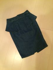 moussy デニムスカート 0