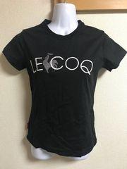 ★lecoq sportif 黒×ロゴ刺繍入Tシャツ  L★