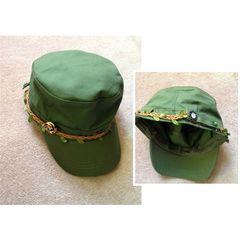 男女兼用◆スワロ付き◆リーフライン&ボタン◆ キャップ 帽子