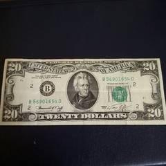 旧アメリカ紙幣20ドル札