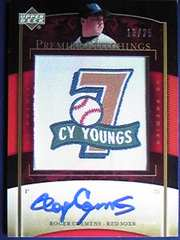 UD07 ROGER.CLEMENS・Premier-Stitchings.直筆サインカード /25