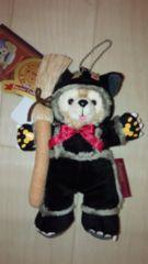 ダッフィー黒猫ぬいぐるみバッジぬいばディズニーシーハロウィン