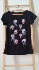 新品 ドクロ スカル Tシャツ ブラック