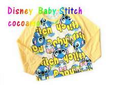 *Disney Baby Stitch*スティッチ総柄ラグランロンT*イエロー*80�a*新品*