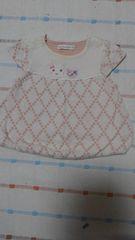 クーラクール♪ピンク小花柄半袖チュニック♪70�p