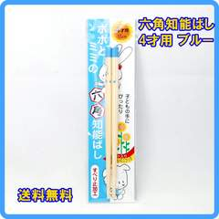 正規品 日本製 六角知能箸 4才用 15cm ブルー 子供箸 箸匠せいわ