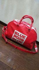 ブルームーンブルー/BLUE MOON BLUE☆ハイビスカス柄ボストンデカバッグ