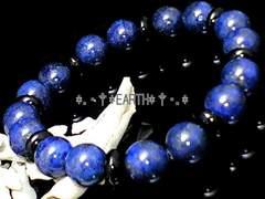 天然石★10ミリボタンオニキス黒瑪瑙&高級ラピスラズリAAA