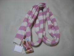 wb843 ROXY ロキシー ニットマフラー スカーフ ピンク白