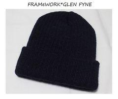 フレームワーク*FRAMeWORK*グレンファイン*GLEN FYNE★ウールニット帽/新品ネイビー