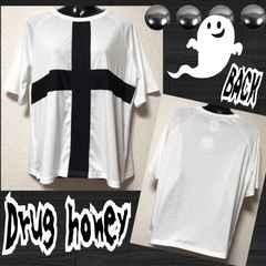 【新品/Drug honey】クロスモチーフBIGTシャツ/ホワイト