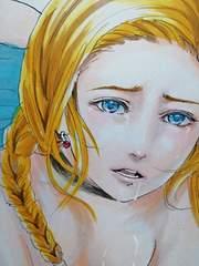 自作イラスト ビアンカ ドラクエ DQ5 男性向け カラー原稿