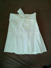 R・F☆フェミニン系リボン付フリルスカート(ホワイト)