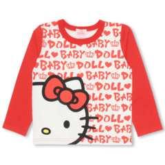 新品BABYDOLL☆110 ハローキティ ロンT ロゴ総柄 Tシャツ ベビードール
