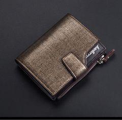 財布 二つ折り財布 レザー 札 小銭 カード入れ ブラウンゴールド