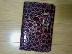 エナメル素材クロコダイル風 二つ折り財布