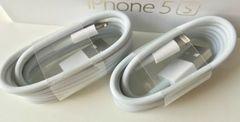 送料込み5個セット★apple iPhone純正ライトニングケーブル.1m3本、2m2本、
