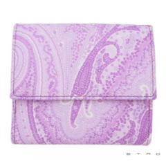 新品エトロETROペイズリー柄 コンパクト二つ折り財布パ