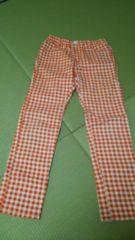 オレンジ赤♪チェック♪可愛いパンツ