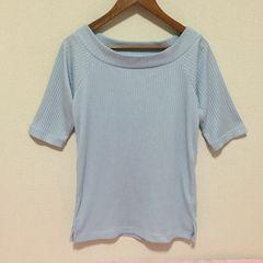 #LOWRYS FARMリブTシャツ☆水色