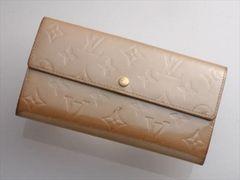 G4369 本物 FRANCE ヴィトン ヴェルニ サラ 二つ折 長財布