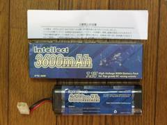 Intellect 3600mAh Ni-MHバッテリー 新品!