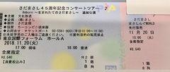 1階8列目♪さだまさしコンサートReborn♪東京国際フォーラムA
