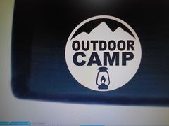 OUTDOOR CAMP カッティングステッカー 1