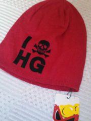 ヒスミニ silk  シルク100%  ニット帽 ロゴ年間着用OK!   size s