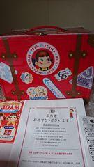 懸賞当選☆65周年記念☆不二家ペコちゃんミルキートランク缶♪