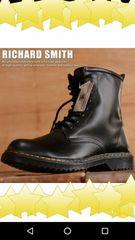 RICHARD SMITH 8ホール ブーツ シンセティック レザー  25.0cm