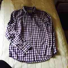 Jcrewジェイクルーギンガムチェックシャツ 長袖ブルー×ホワイト