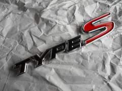 ● 処分特価!TYPE S /タイプS  エンブレム BLACK/RED 新品!