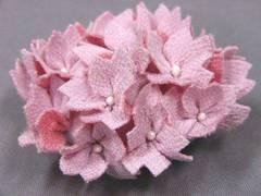 わけあり品 縮緬生地の花 帯留め 1201 ピンク 新品