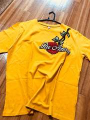 ☆新品☆大きめゆったり前ばら刺繍・ロゴのデザインTシャツ