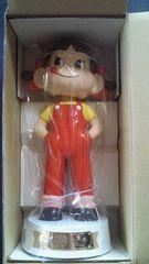 当選品□不二家 ペコちゃん 60周年記念 首ふり人形□レア 白台座