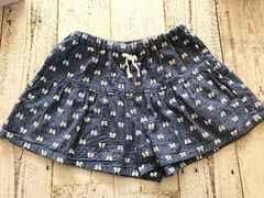 夏物 女の子 130cm キュロットスカート リボン柄 マザウェイズ