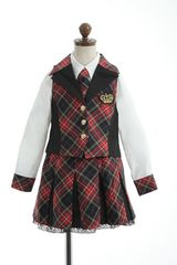 アイドル☆スーツ セット レッド赤チェック 100