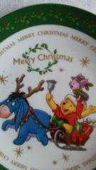 くまのプーさんクリスマスプレート緑イーヨ ピグレット未使用品