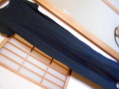 アパートバイローリーズ*マキシ丈黒ワンピースL*クリックポスト164円