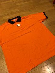 UnitedAthle カノコ半袖ポロシャツ  オレンジ黒 sizeXXXXL→3XL