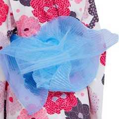 浴衣に♪ふんわり天使の兵児帯★子供ゆかたライトブルー/へこ帯