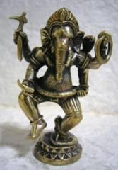 真鍮製 ガネーシャ像・聖歓喜天 6.4センチ