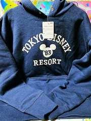 TDR☆ミッキー&【パーカー】あったかウェア★シックで大人っぽく!★ネイビー(LL)