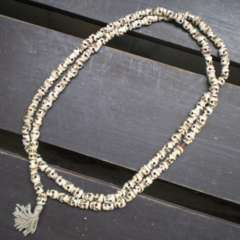 水牛骨製スカル数珠 104センチ