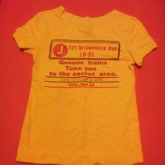 LB-03 黄色バックプリントストレッチTシャツ B系 ダンサー