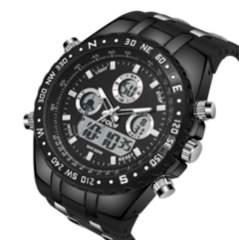 メンズ腕時計 多機能スポーツウォッチ黒